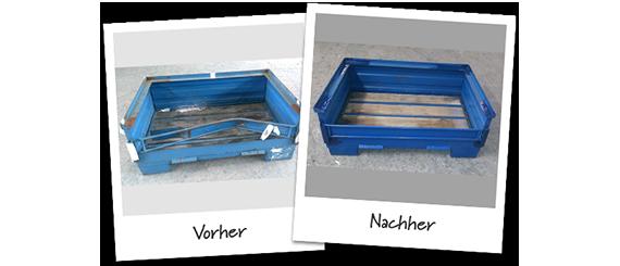Reparatur: Vorher/Nachher