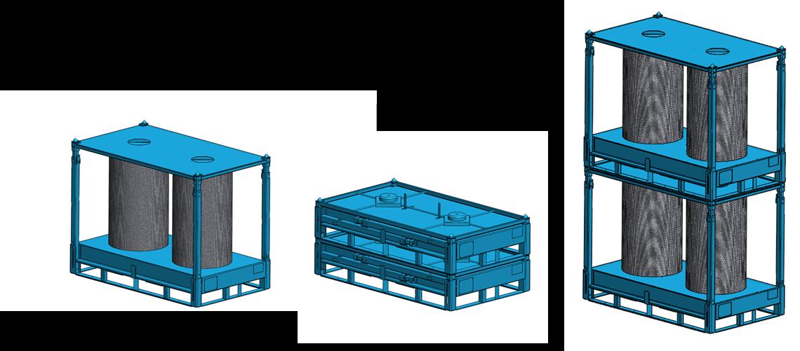 Rollengestell für stehende Lagerung