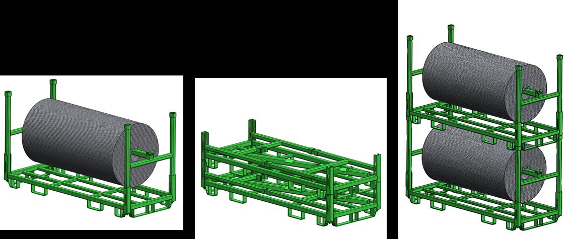 Rollengestell hängende Lagerung