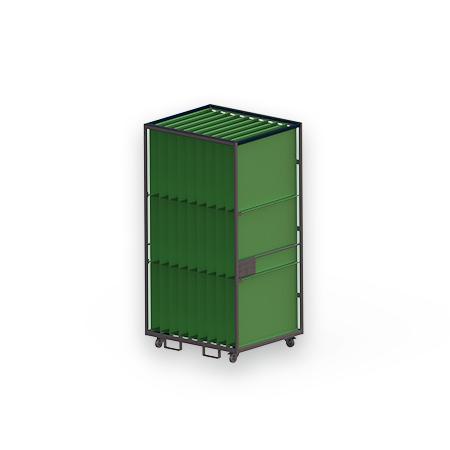 Abbildung eines Gefacherollbehälters