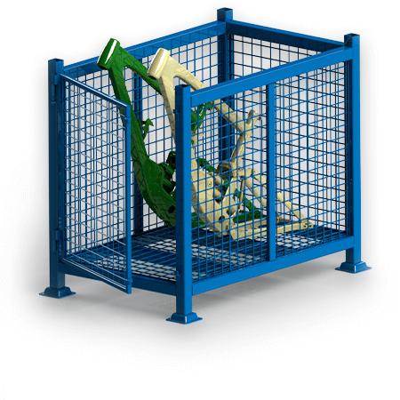 Abbildung eines Gitterbehälters
